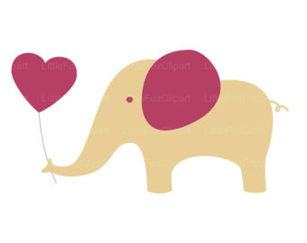 Elephant with hearts clipart png free stock Elephant with hearts clipart - ClipartFest png free stock