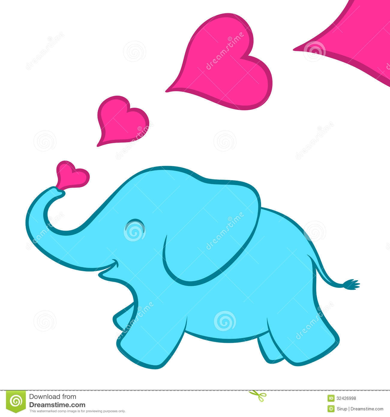 Elephant with hearts clipart clip art freeuse download Elephant with hearts clipart - ClipartFest clip art freeuse download
