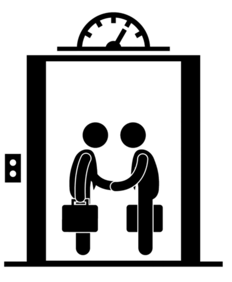 Elevator pitch clipart image black and white The Elevator Pitch: A Quick Introduction to You and Your Research ... image black and white