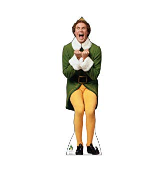 Elf movie clipart jpg royalty free stock Advanced Graphics Buddy The Elf Excited Life Size Cardboard Cutout Standup  - Elf (2003 Film) jpg royalty free stock