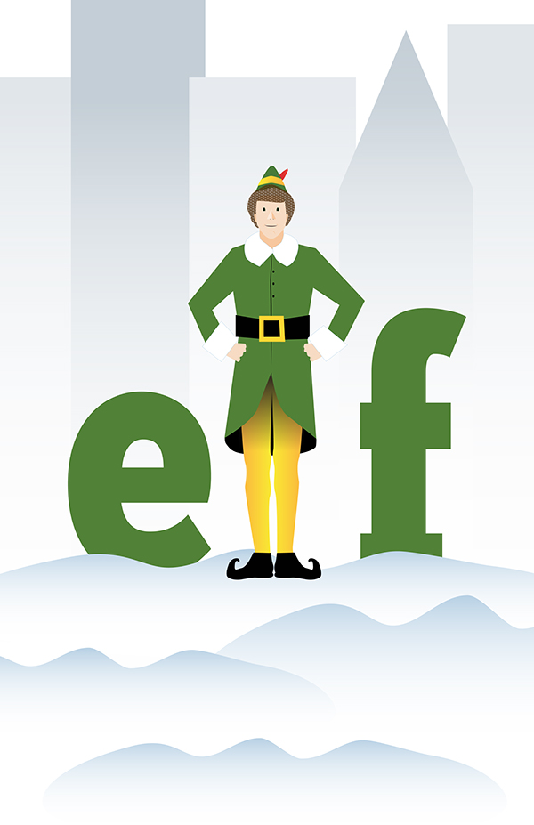 Elf movie clipart graphic black and white Elf - movie poster on Wacom Gallery graphic black and white