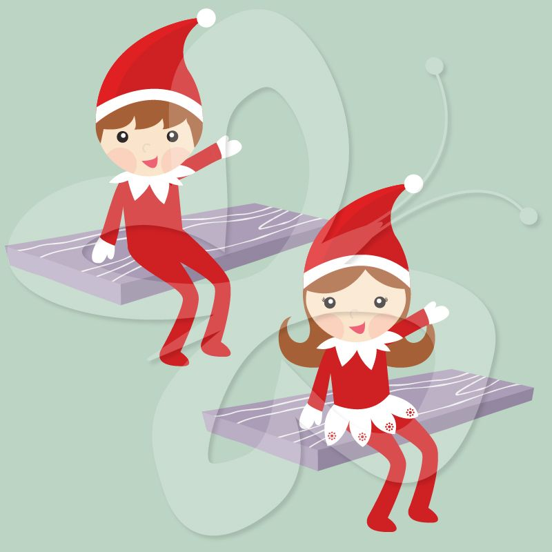 Elf on the shelf plugging in lights clipart svg black and white download The Elf on the Shelf Clip Art - Creative Clipart Collection ... svg black and white download