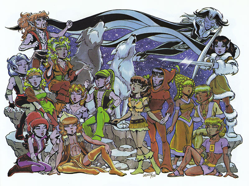 Elfquest character clipart vector library stock Elfquest - The Elfquest Who's Who vector library stock
