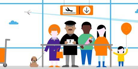 Elle fait enregistrer ses bagages dans un aeroport clipart clipart royalty free stock Comment les compagnies aériennes réinventent l\'expérien   Orange ... clipart royalty free stock