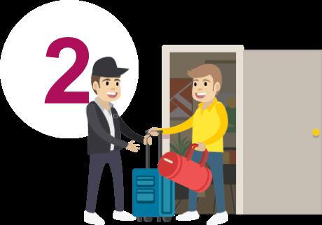 Elle fait enregistrer ses bagages dans un aeroport clipart vector free library Livraison de bagages à domicile – Oui.sncf – En quelques clics ... vector free library