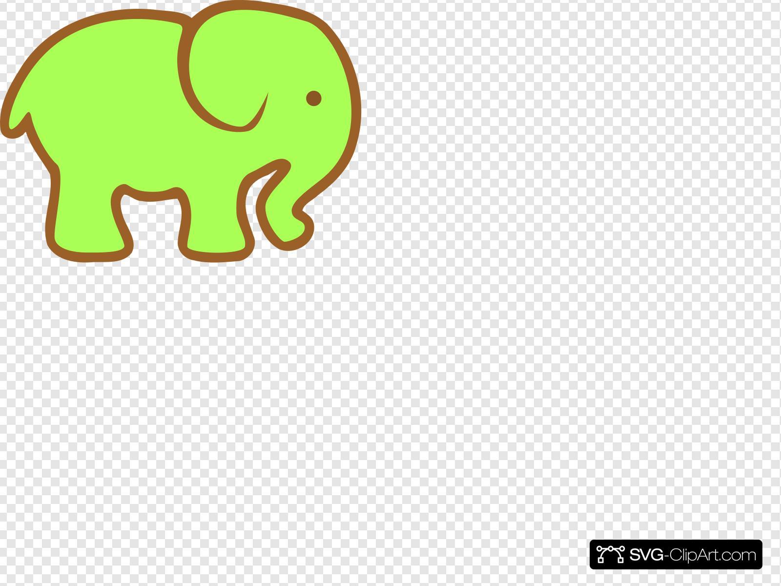 Ellie clipart image royalty free Green Ellie Clip art, Icon and SVG - SVG Clipart image royalty free
