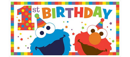 Elmo 1st birthday clipart vector stock Elmo 1st Birthday Party Supplies - Party City vector stock
