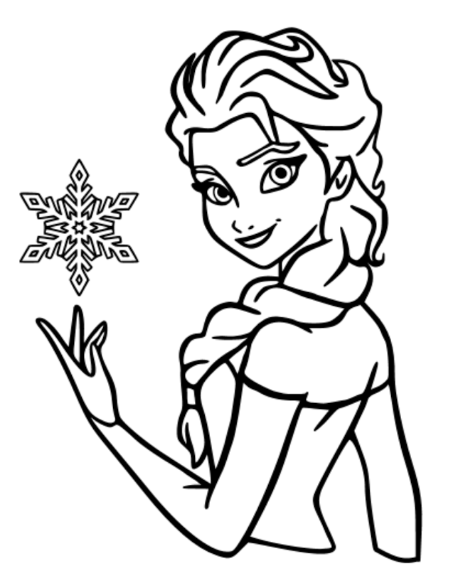 Elsa clipart black and white picture library Disney Frozen Png Black And White & Free Disney Frozen Black And ... picture library