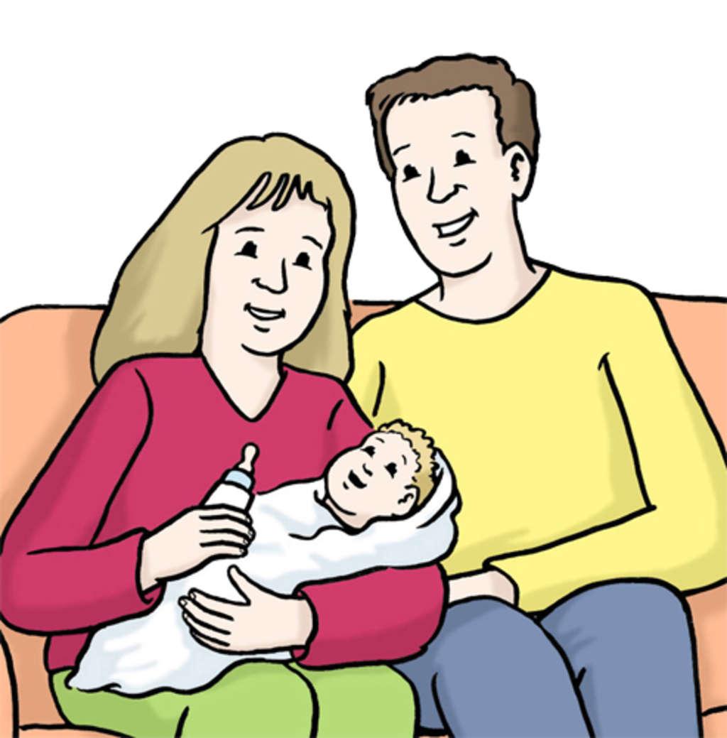 Eltern mit kind clipart vector black and white library Geburt von einem im Ausland geborenen Kind eintragen lassen ... vector black and white library