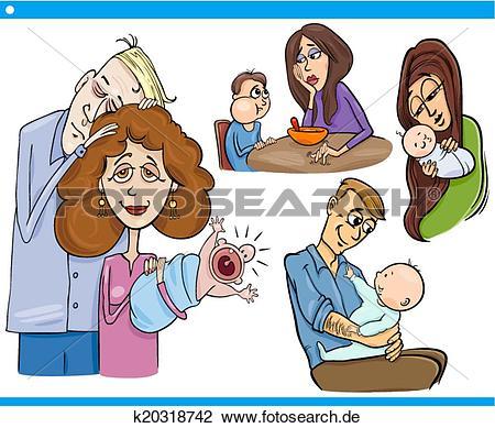 Eltern mit kind clipart clipart free download Clipart - eltern, und, kinder, karikatur, satz k20318742 - Suche ... clipart free download