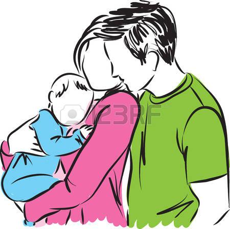 Eltern mit kind clipart picture freeuse library Eltern Und Baby Lizenzfreie Vektorgrafiken Kaufen: 123RF picture freeuse library
