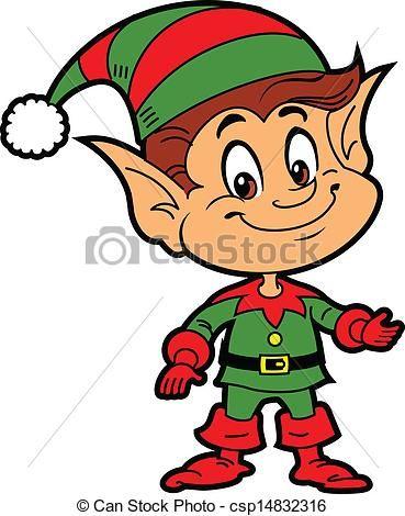 Free elf waving clipart
