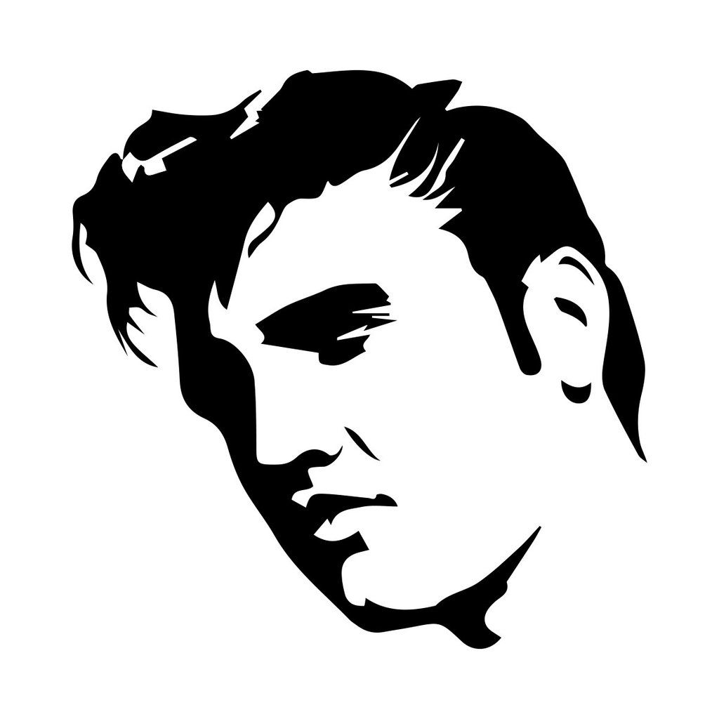 Elvis clipart graphics free image free library Elvis Presley Large Wall Art Sticker Vinyl Free | Drawings ... image free library