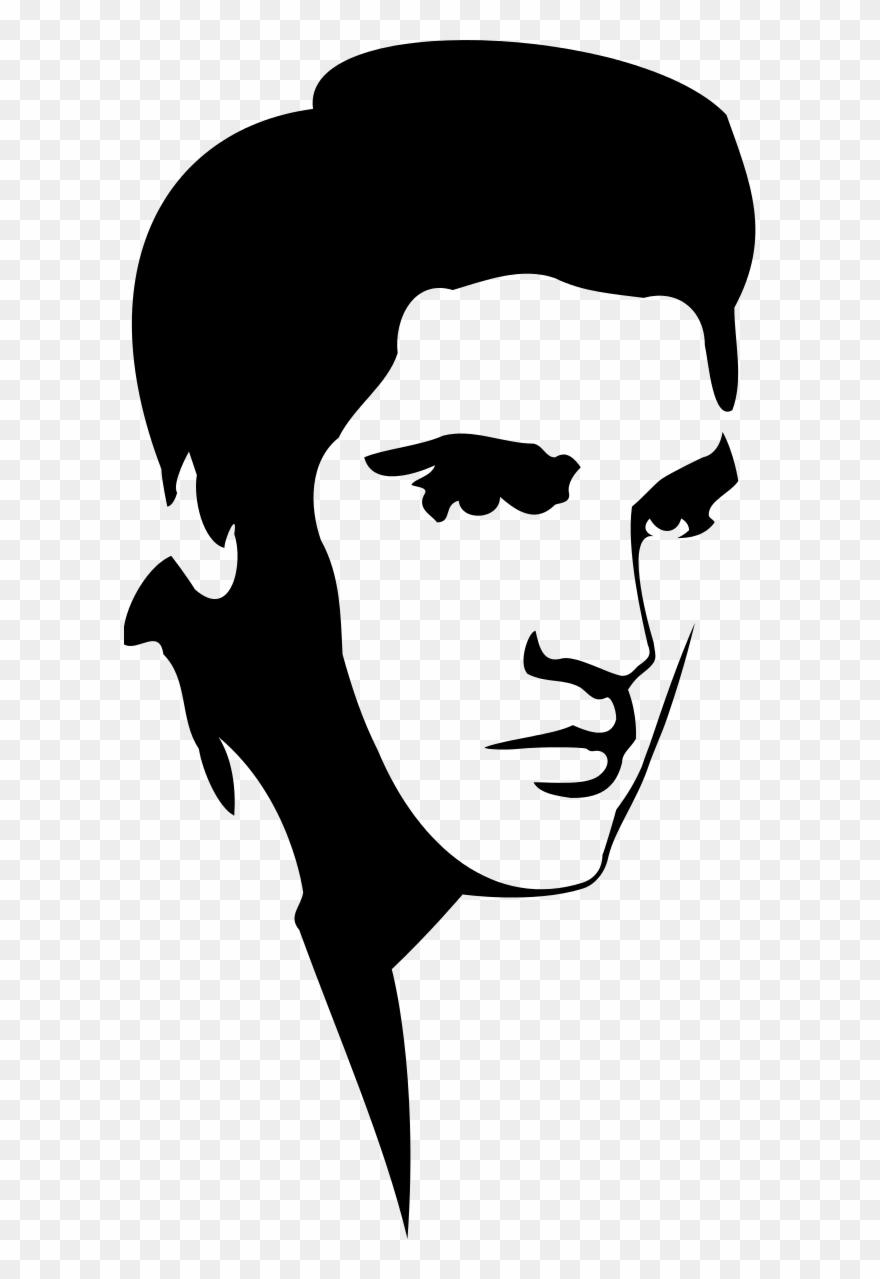 Elvis presley cartoon clipart picture transparent download Elvis Presley Stencil - Elvis Presley Svg Clipart (#172899) - PinClipart picture transparent download