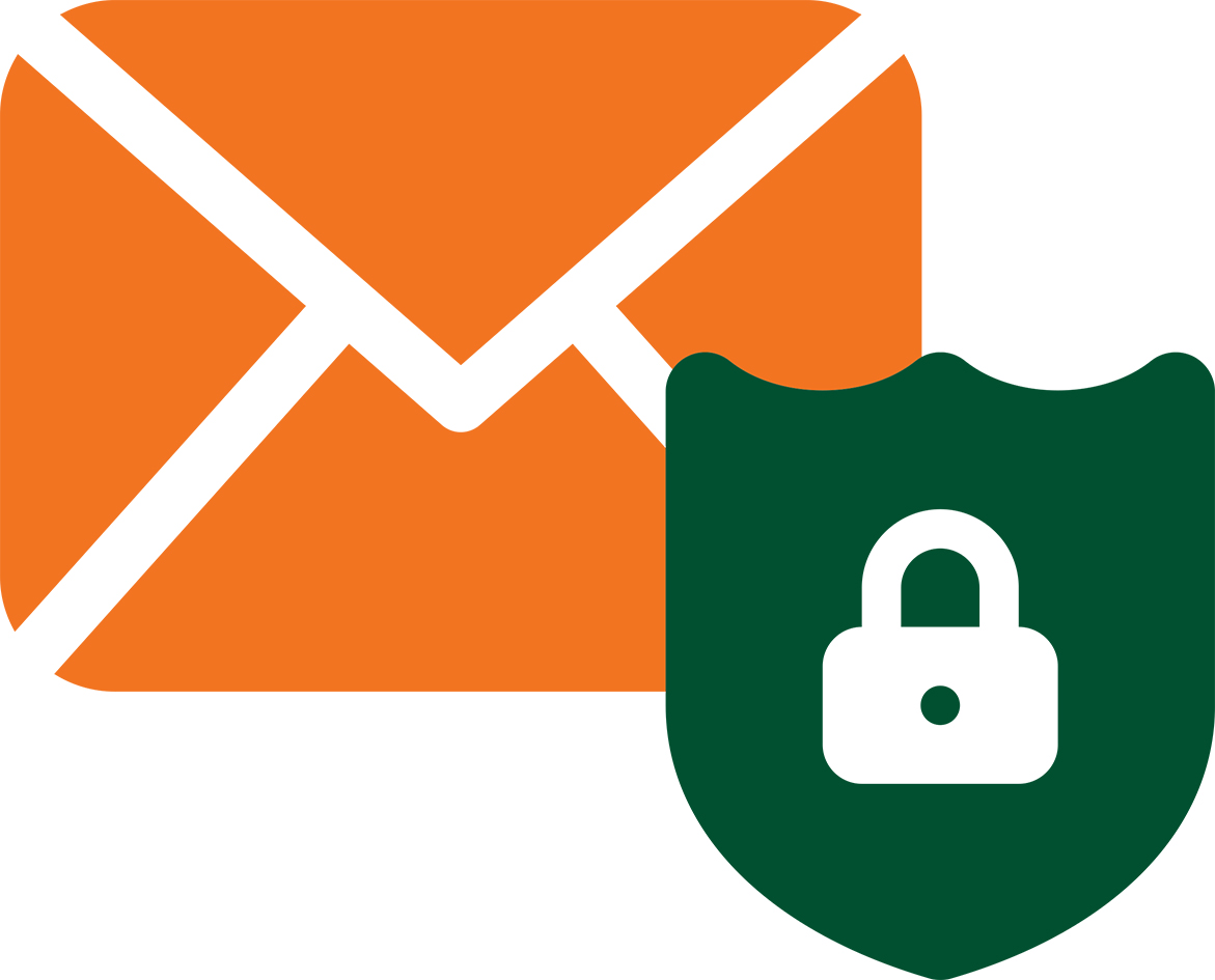 Email filtering clipart
