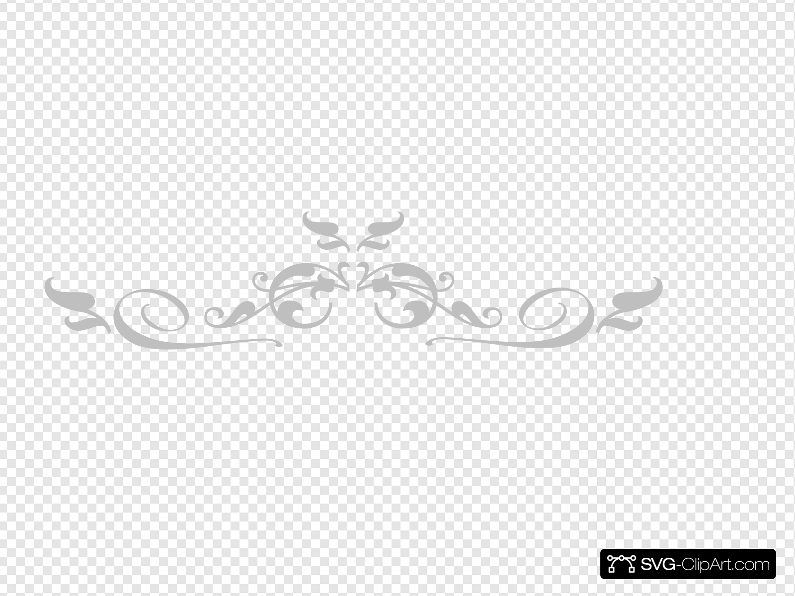 Clipart embelishment banner Grey Embellishment Clip art, Icon and SVG - SVG Clipart banner