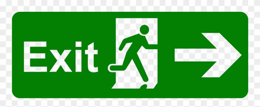 Emergency exit clipart svg black and white stock Exit Png Picture - Safety Signs Emergency Exit Clipart (#44307 ... svg black and white stock