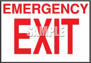 Emergency exit clipart clip black and white download Emergency Exit Sign - Royalty Free Clipart Picture clip black and white download