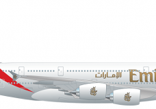 Emirates airlines clipart