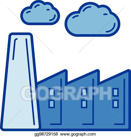 Emission clipart image free download Vector Clipart - Carbon emission line icon. Vector Illustration ... image free download