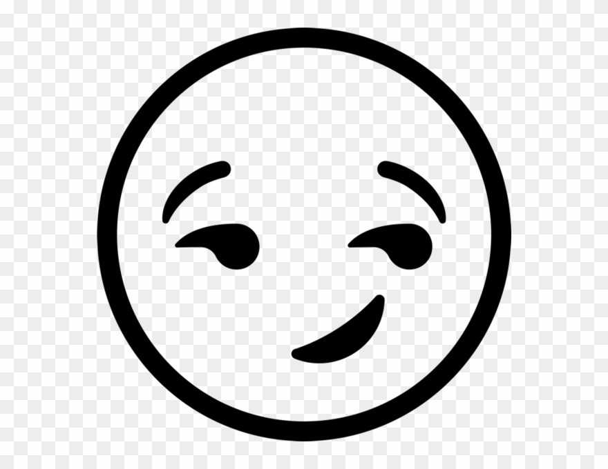Emoji clipart black and white free vector royalty free Image Freeuse Stock Black And White Smiley Face Clipart - Winky Face ... vector royalty free