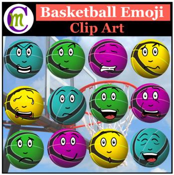 Emoji cliparts basketball royalty free library Basketball Emojis Clipart 2 | Sports Ball Emotions Clip Art royalty free library