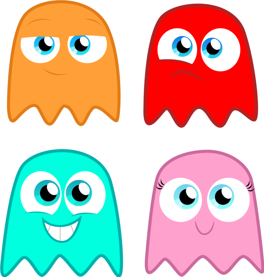 Emoji halloween ghost clipart graphic library Pacman Ghost Blue Wallpaper The Pac Man Ghosts By Alisonwonderland ... graphic library