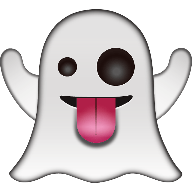 Emoji halloween ghost clipart