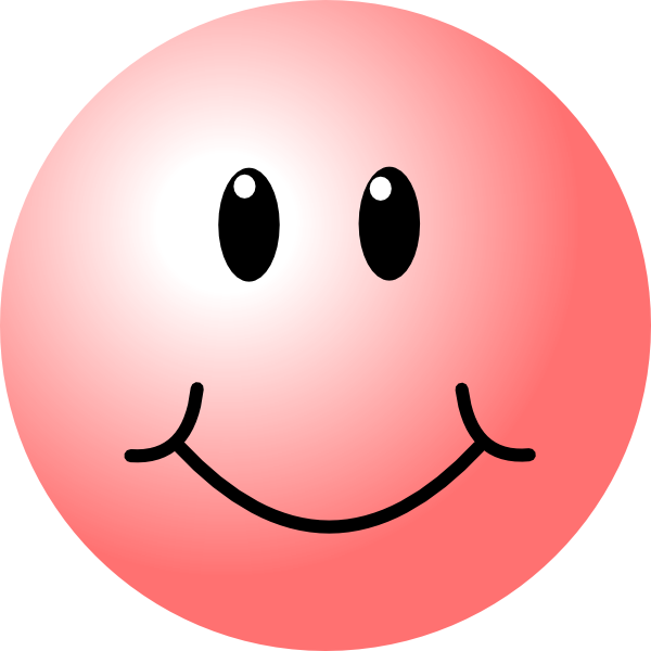 Smiley face baseball clipart graphic free download happy faces | Pink Smiley Face clip art - vector clip art online ... graphic free download
