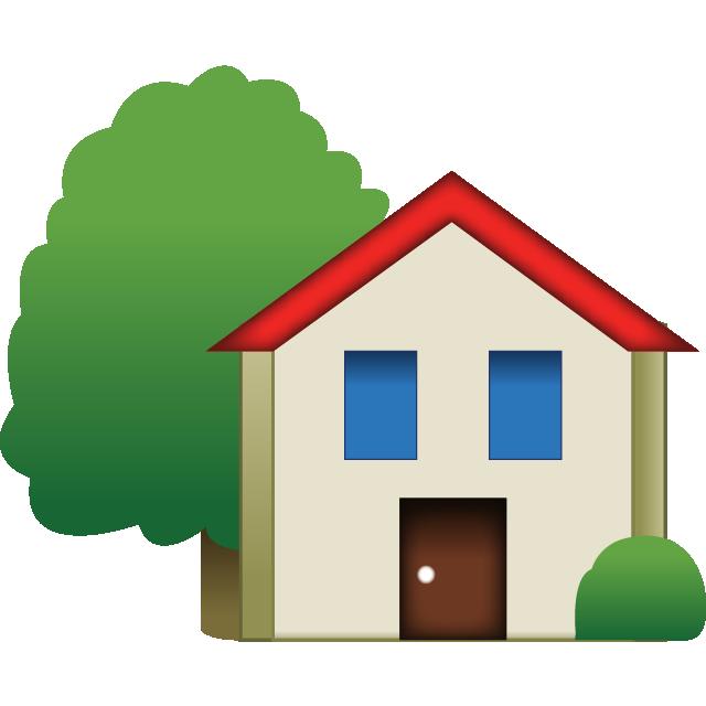 Download House Emoji With Tree | Emoji Island image freeuse