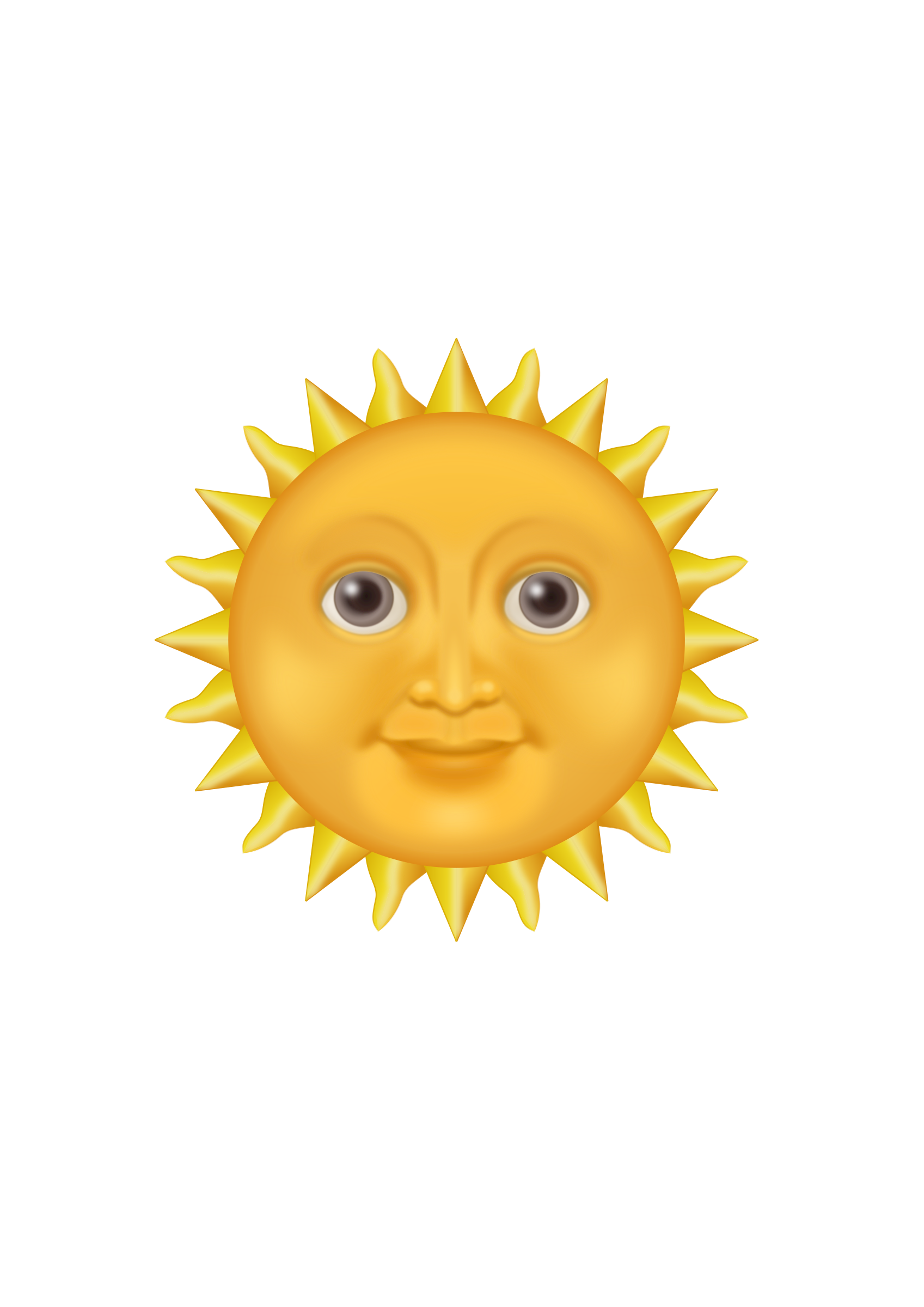 Sun emoji clipart picture royalty free library Sun Emote by @PomPrint, My version of the sun emoji., on ... picture royalty free library