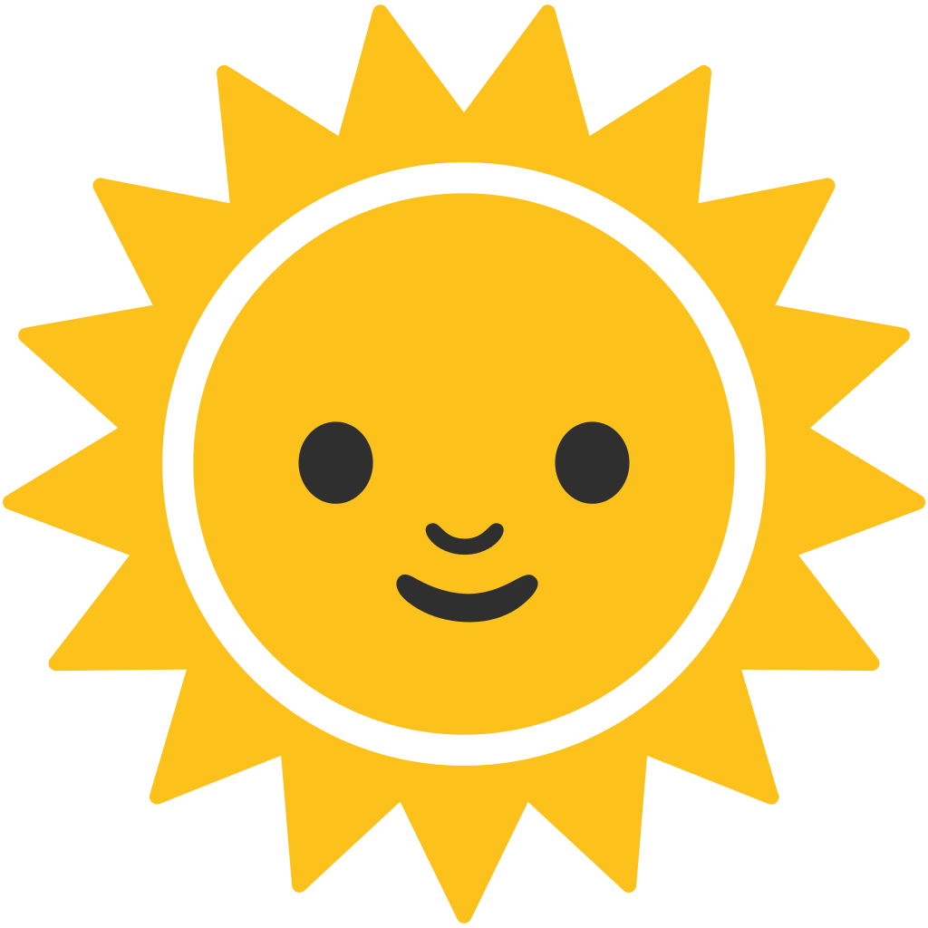 Sun emoji clipart banner library library Emoji Android Symbol Computer Icons Unicode - sun 1024*1024 ... banner library library