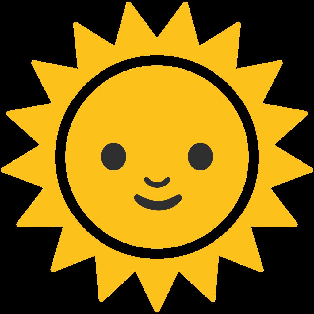 Emoji sun clipart jpg download Emoji Android Symbol Computer Icons Unicode - sun 1024*1024 ... jpg download