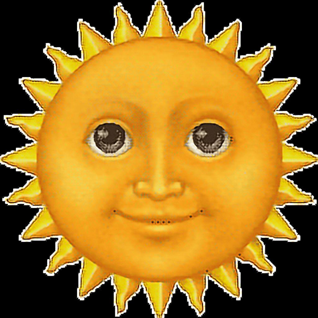 Sun emoji clipart picture emoji sun face Tumblr - Sticker by Alissa Denae picture