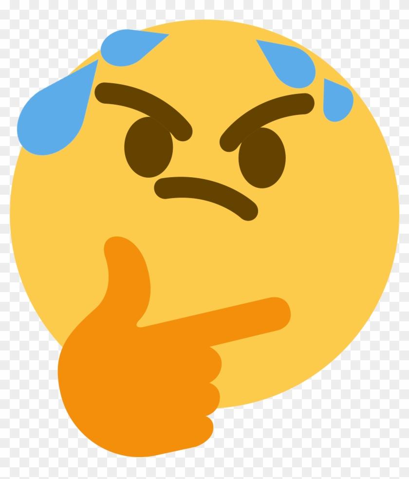 Emoji thinking clipart graphic library Thinksweat Discord Emoji - Thinking Emoji Gif - Free Transparent PNG ... graphic library