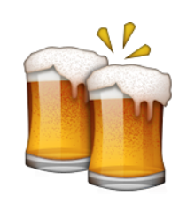 Emoji with beer clipart graphic royalty free library Ios Emoji Clinking Beer Mugs graphic royalty free library