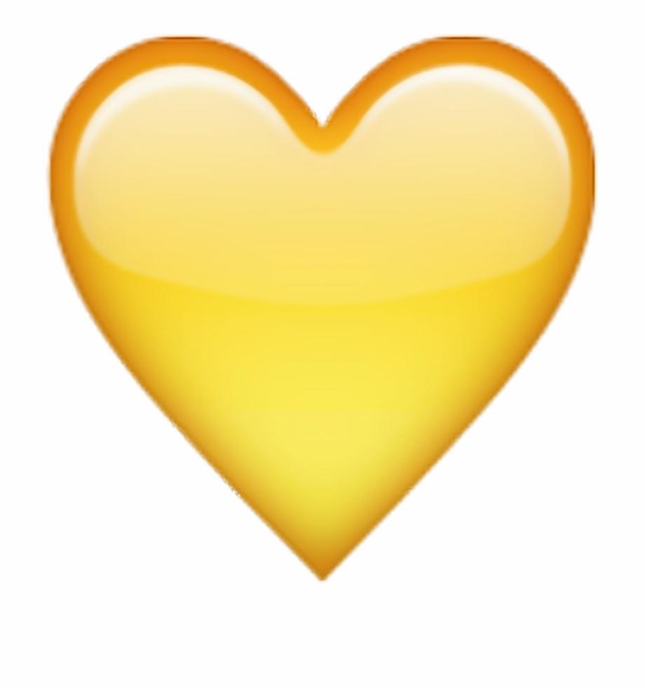 Yellow heart balloon clipart clipart freeuse download Emoji Emojis Tumblr Hearts Edit Emojisstickers Heart - Iphone Yellow ... clipart freeuse download