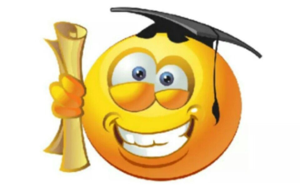 Smiley face graduation clipart picture download Graduate | Emoticons | Smiley emoji, Funny emoticons, Emoji faces picture download