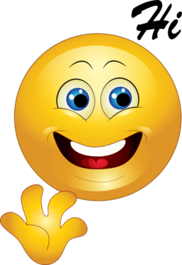 Emoticon images clipart royalty free Yellow Hi Happy Smiley Emoticon Clipart   i2Clipart - Royalty Free ... royalty free