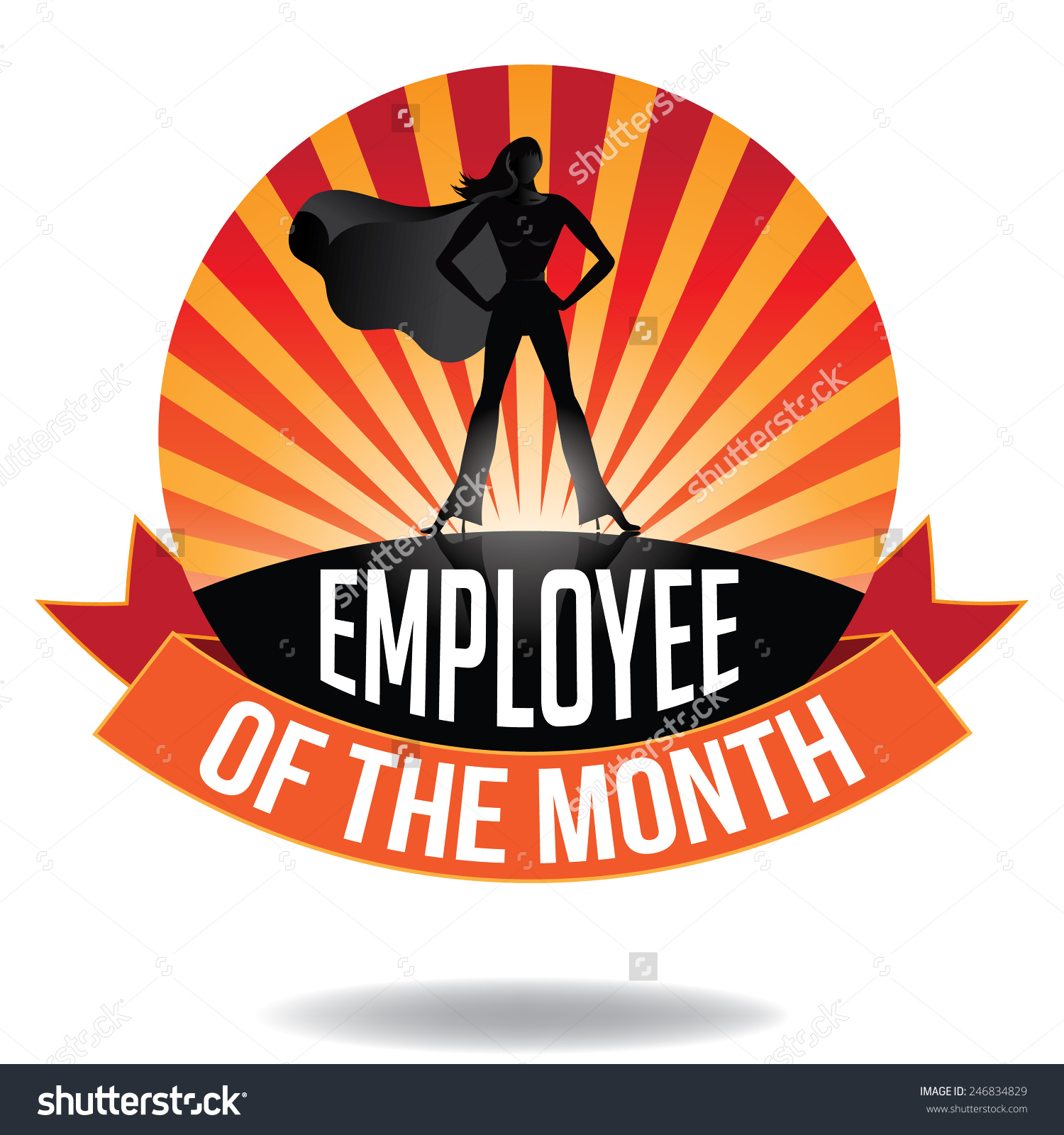 Employee Month Burst Icon Eps 10 Stock Vector 246834829 - Shutterstock clip free library