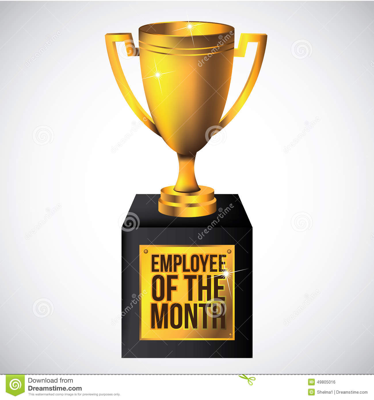 Employee Of The Month Trophy Royalty Free Stock Images - Image ... image black and white