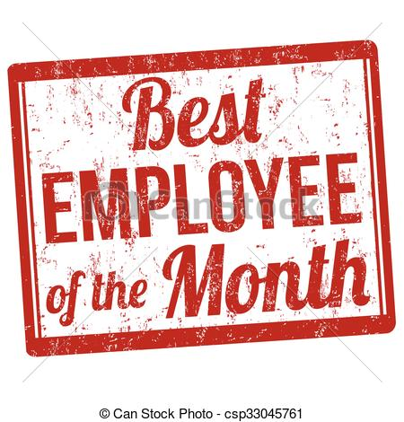 Clip Art Vector of Best employee of the month stamp - Best ... download