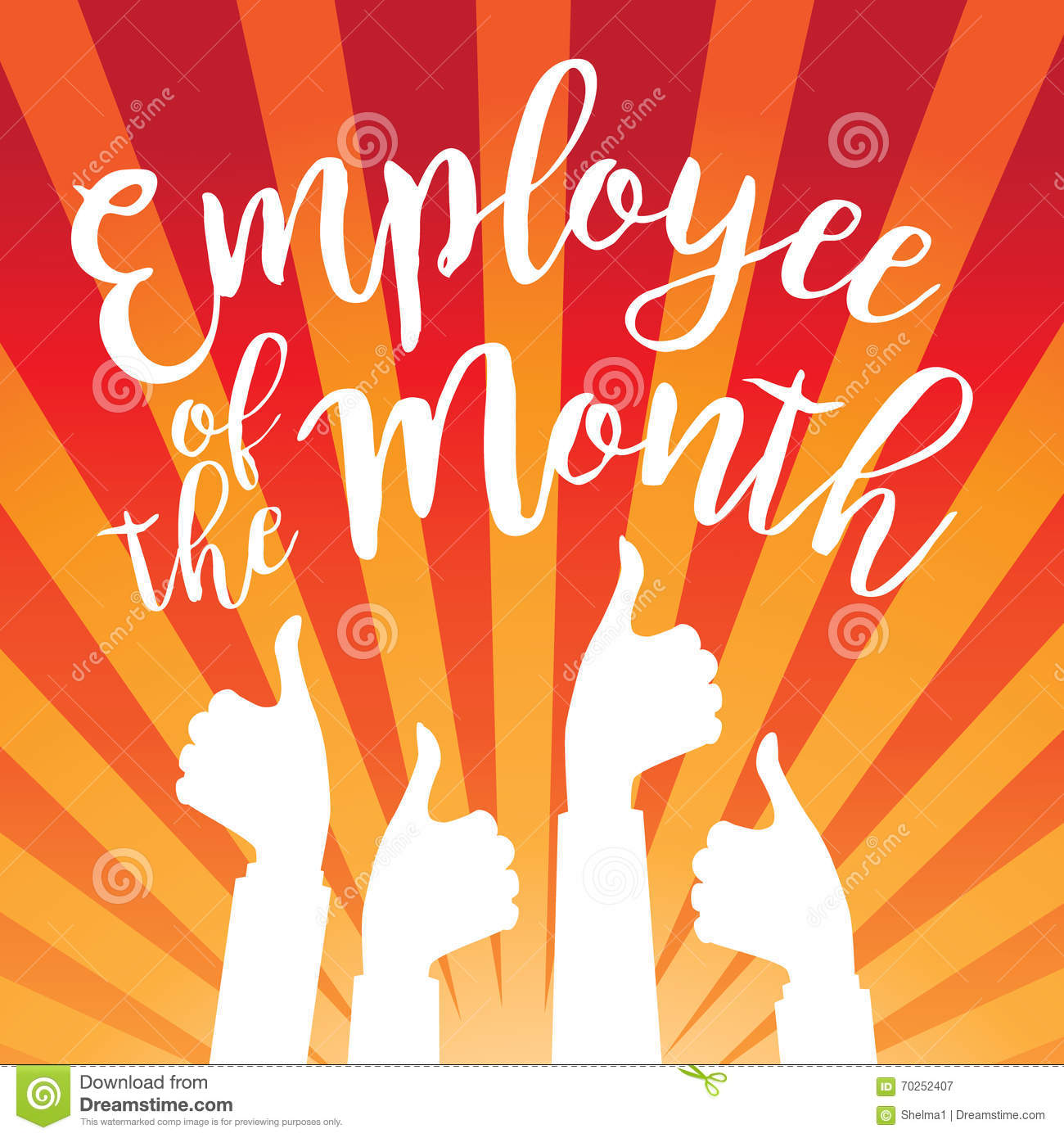 Employee Of The Month Poster Frame Stock Vector - Image: 64536321 image download