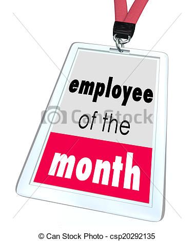 Stock Photos of Employee of the Month Badge Name Tag Top Performer ... png transparent