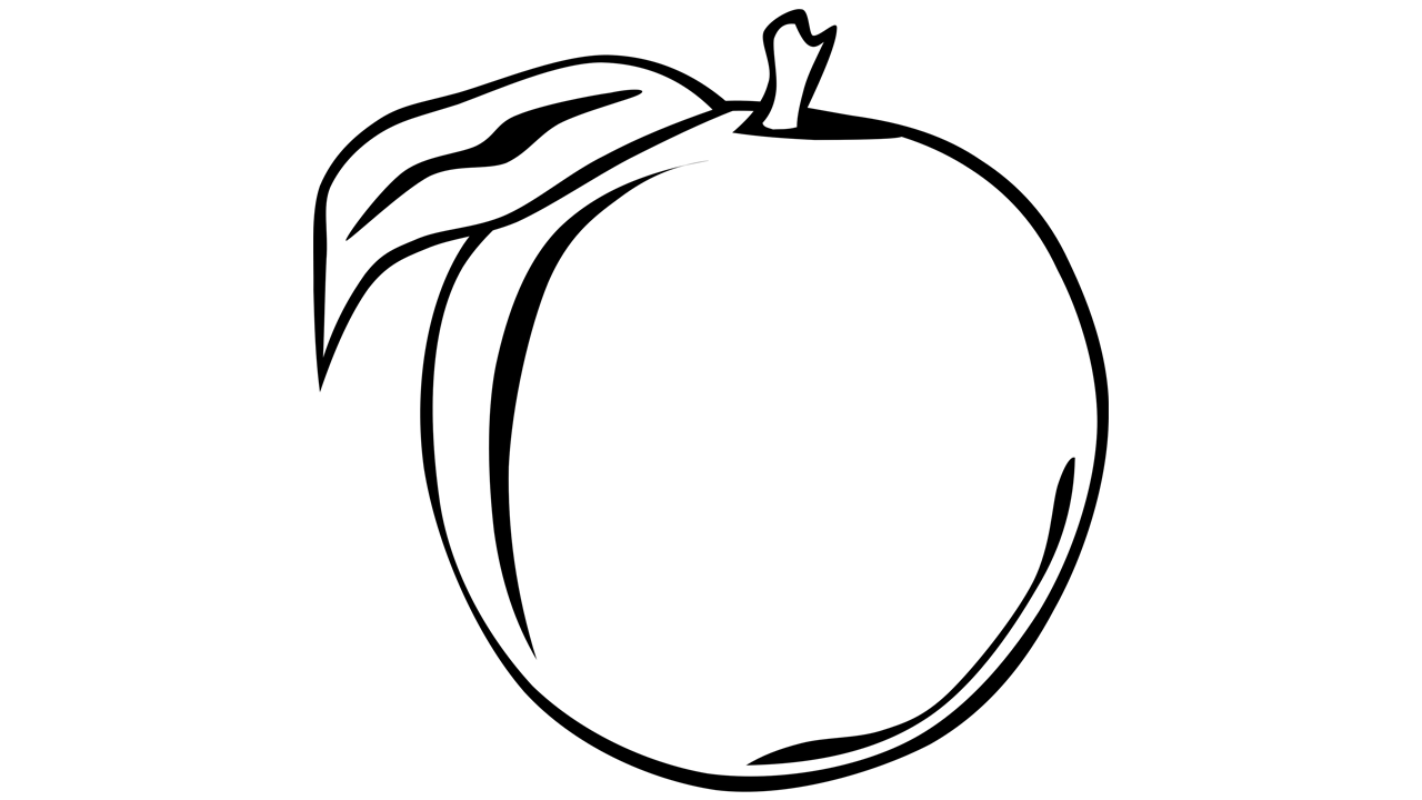 Black and white fruit. Empty apple basket clipart