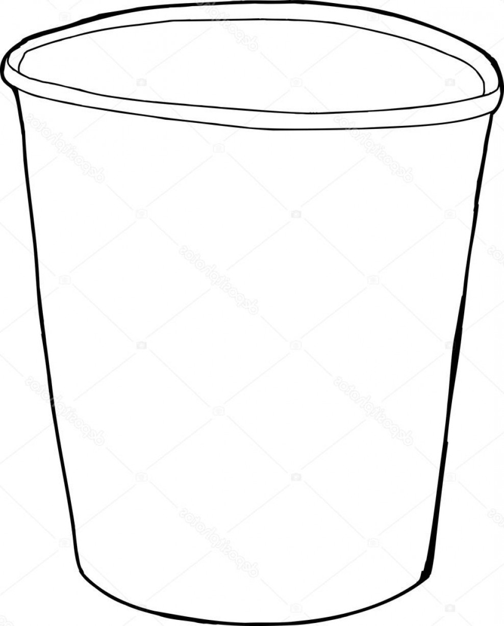Empty cup clipart picture freeuse library Stock Illustration Cartoon Outline Of Styrofoam Cup | SOIDERGI picture freeuse library