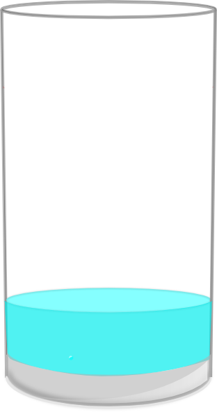 Empty cup clipart freeuse download Almost Empty Glass Clip Art at Clker.com - vector clip art online ... freeuse download