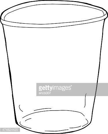 Empty cup clipart banner royalty free library Empty Outlined Cup stock vectors - Clipart.me banner royalty free library