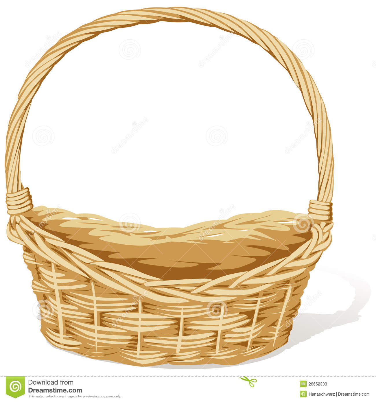 Empty easter basket clipart clip transparent library Empty Easter Basket Clipart - Clipart Kid clip transparent library