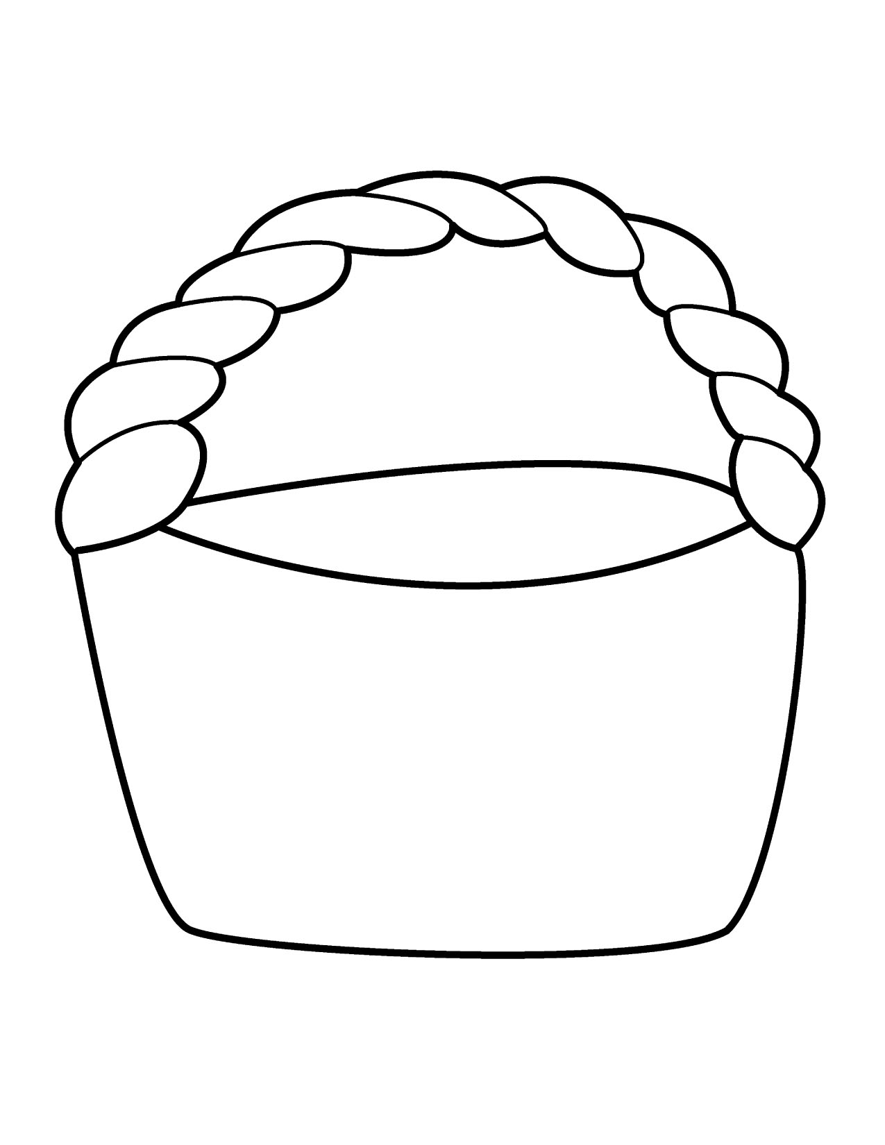 Empty easter basket clipart svg stock Empty Basket Black Clipart - Clipart Kid svg stock